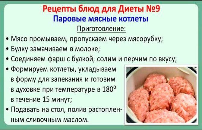Рецепт блюда при диете №9