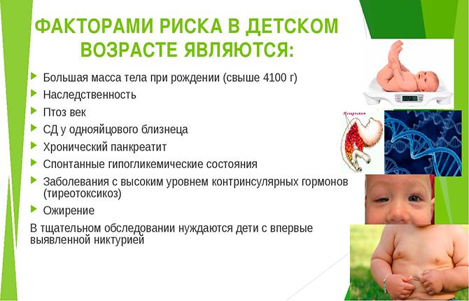 Факторы риска развития диабета в детском возрасте